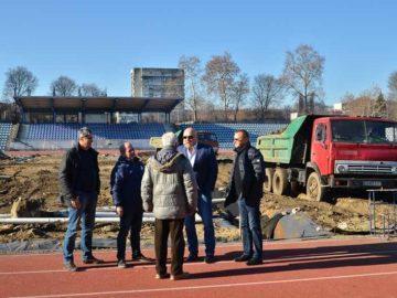 ремонт градски стадион Русе