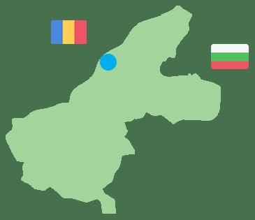 карта област Русе