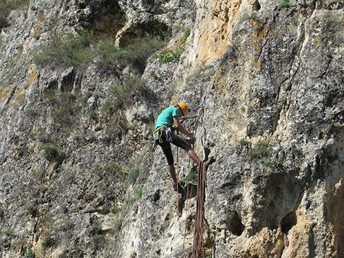 алпинист стена