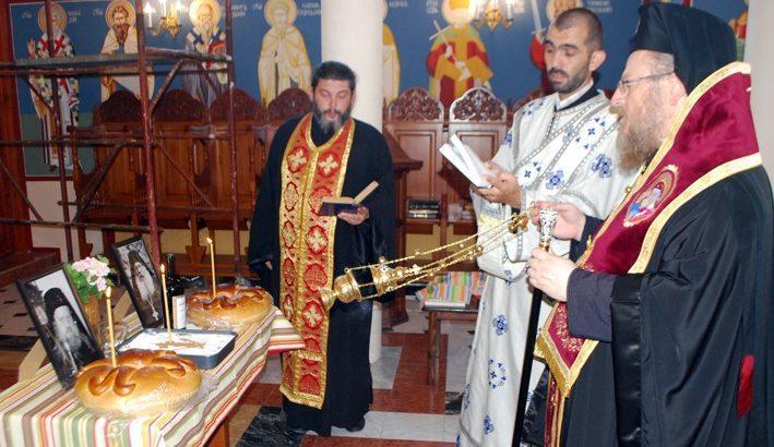 Русенският митрополит Наум отслужи панихида в храма на Басарбовския скален манастир