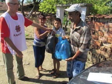 Каритас Русе помогна на 250 семейства, пострадали от проливните дъждове и градушки