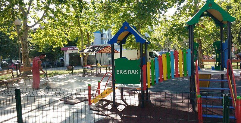 детска площадка екопак