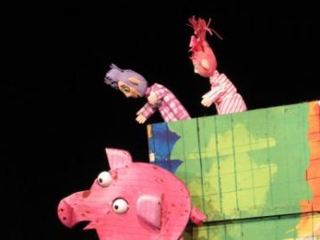 трите прасенца куклен театър