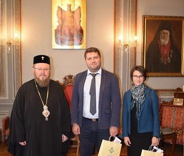 Русенският митрополит Наум прие в Русенската митрополия вицеконсулът в Генералното консулство на Русия