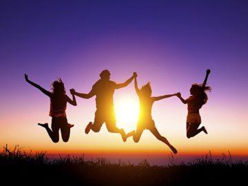 щастие радост младежи