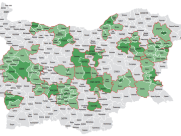 карта промишлени центрове