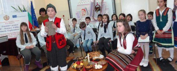 """Българските коледни традиции влизат в европейската образователна платформа European Shared Treasure благодарение на СУ """"Възраждане"""""""