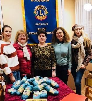 """Лайънс клуб """"Русе - Сексагинта Приста"""" се включи в призива на международния президент за даряване на ориз"""