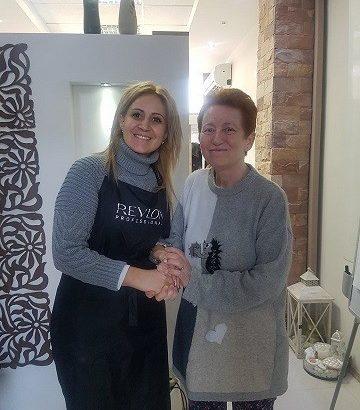 Галина Косева е първата жена, която се възползва от кампанията на фризьорката Нина Йорданова и Комплексния онкологичен център в Русе