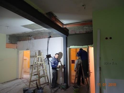 """Вече месец тече ремонтът на новия дом на отделение Трансфузионна хематология в УМБАЛ """"Канев"""" АД"""