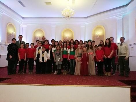 "Тамбурашки оркестър ""Русе"", ДВГ ""Слънце"" и Вокално стуио ""Слънчеви ноти"" изнесоха концерт в Букурещ"