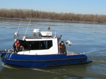 Новият кораб за проучване на река Дунав пристигна в Русе днес