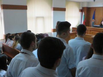 """ПГИУ """"Елиас Канети"""" посетиха днес Административен съд - Русе"""