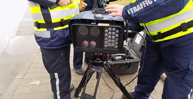 камера за засичане на скоростта на пътна полиция