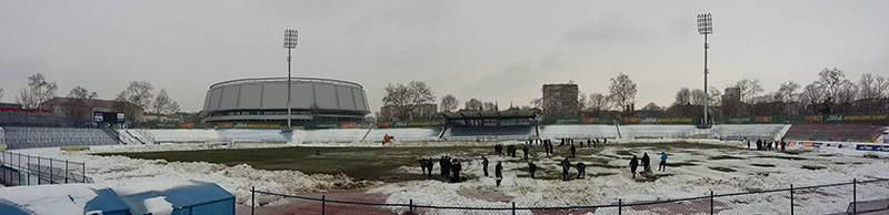 стадион дунав сняг