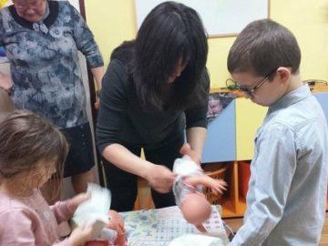 На Благовещение с деца от детската градина
