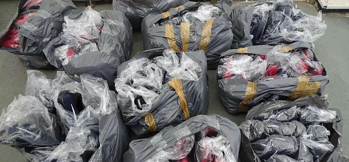 1057 фалшиви чифта обувки, облекла и парфюми задържаха на Дунав мост 1 за 2 дни