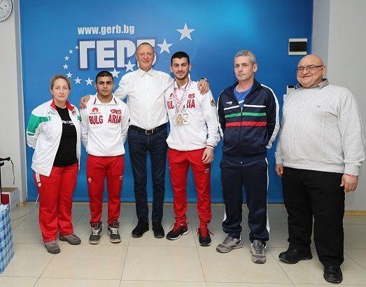 Пламен Нунев поздрави вицеевропейския шампион по вдигане на тежести Стилян Гроздев
