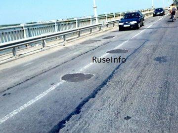 Днес завърши изкърпването на българския участък от Дунав мост 1
