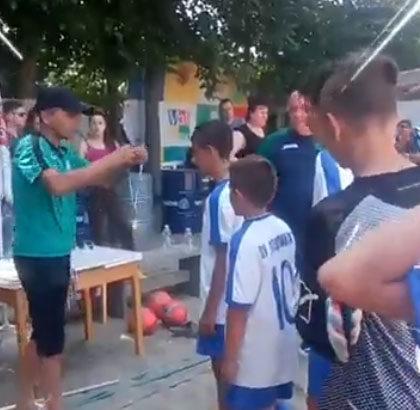 награждаване плажен футбол деца 2018 училища