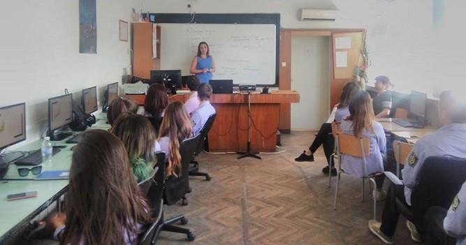 "Открит урок по проект ""Практични финанси""се проведе в СУПНЕ - Русе"