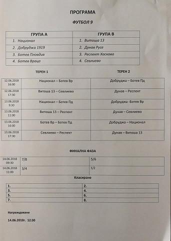 """ФК """"Дунав"""" - Русе в Сливен за финалите на футбол 9 към БФС"""