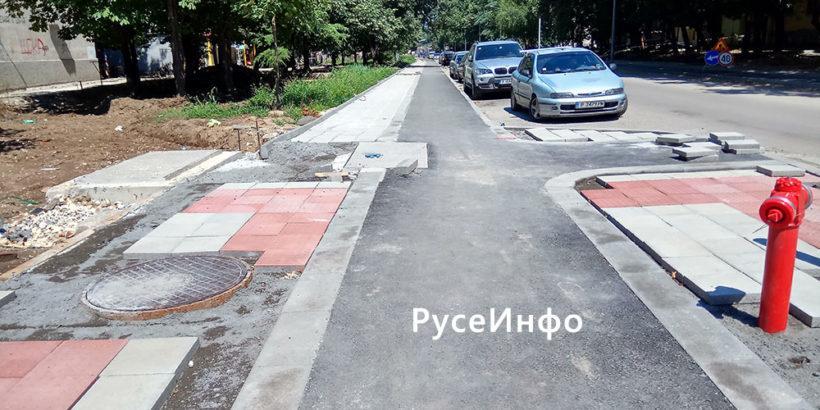 Presfaltiraneto Na Ulici I Trotoari V Ruse Po Mashabniya Proekt E V