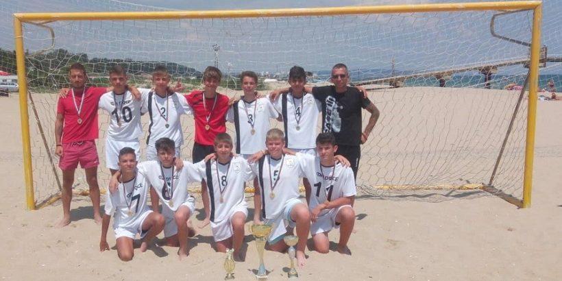 "ФК ""Русе"" е държавен шампион по плажен футбол при децата родени през 2003 - 2005 година"