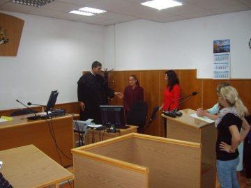 Финална лекция на съдия от Районен съд - Бяла пред ученици