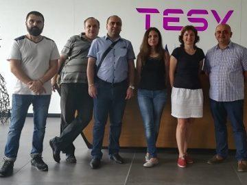 """Преподаватели от катедра """"Мениджмънт и бизнес развитие"""" проведоха работна среща с ръководния екип на """"ТЕСИ"""" ООД"""