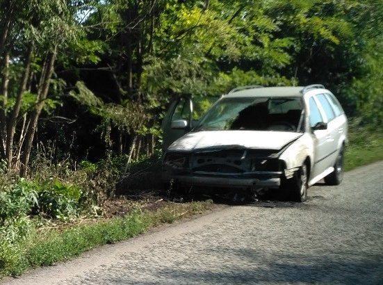 Автомобил горя след катастрофа на пътя Русе - Бяла