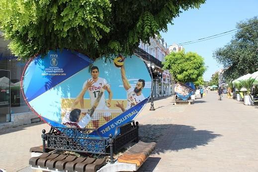 Изложба и арт инсталация за Световното първенство по волейбол в Русе