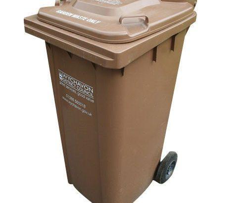кафяв контейнер за отпадъци