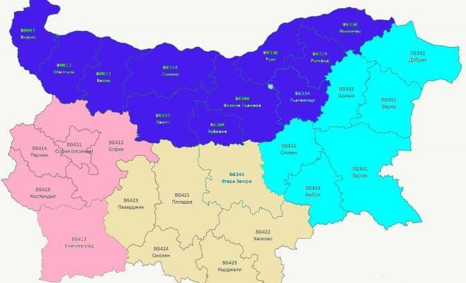 ново райониране на българия