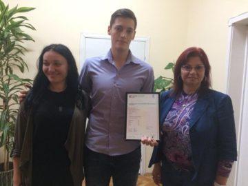 """Тържествено връчване на сертификатите към университета в Кеймбридж се състоя в РБ """"Л. Каравелов"""""""