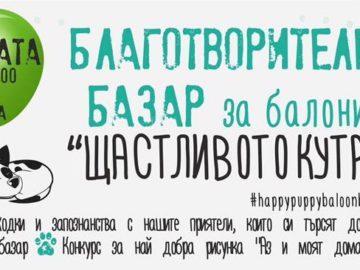 """Благотворителен базар за балони """"Щастливото кутре"""" ще се състои на 1 ноември"""