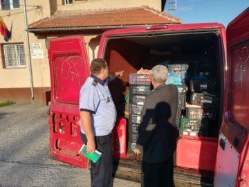Гюргевските полицаи хванаха 1.4 тона свински отпадъци без документи в бус край Калугерени