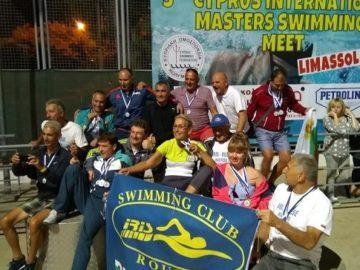 """Плувците ветерани на """"Ирис"""" с много медали и от Cyprus Masters Swimming Meet 2018"""