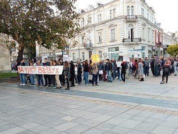 """Протест – шествие """"Чист въздух – здрави деца"""" се проведе преди малко в Русе"""