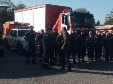 Служители на ГДПБЗН и румънските им колеги провеждат практическо учение за действие при тежко земетресение в Румъния