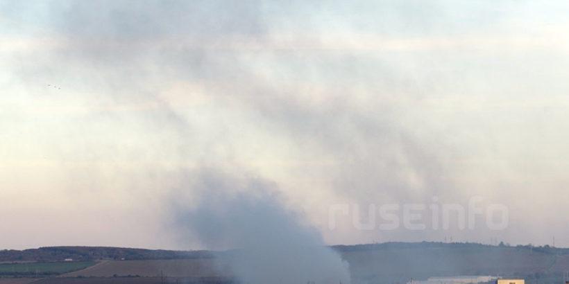 пожар сметище русе 2