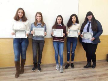 """Наградиха победителите в конкурса """"Училищни истории"""", организиран от Фонд """"Математика на бъдещето"""", с подкрепата на МГ """"Баба Тонка"""" – Русе"""
