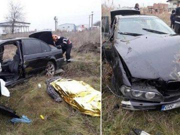 Шофьор загина при преобръщане на БМВ-то му в Гюргевско