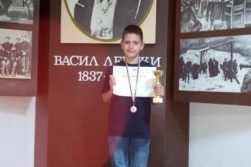 """Пореден медал за ученик от СУ """"В. Левски"""" от републиканско по карате киокушинкай"""