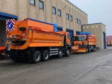 Нови камиони чистят окръжните пътища в Гюргевско