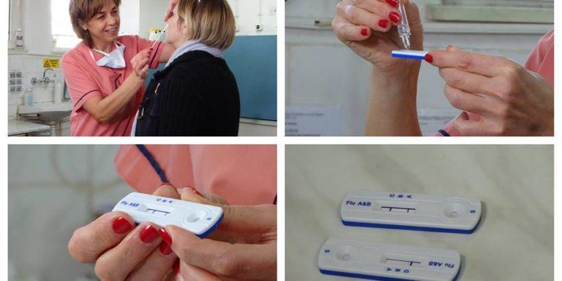 Около 50 души вече се възползваха от тестовете за бърза диагностика на грипни вируси тип А и В