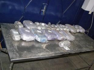 Над 27 кг. марихуана са открити в тайник на ГКПП Дунав мост Русе
