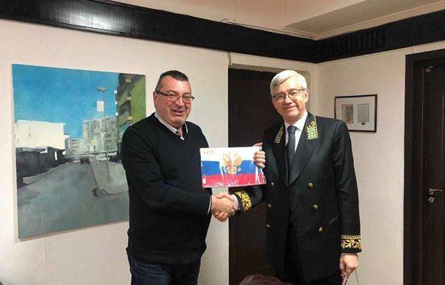 Почетният консул на Монголия в Русе поздрави Генконсула на Русия по повод Деня на дипломатическия работник