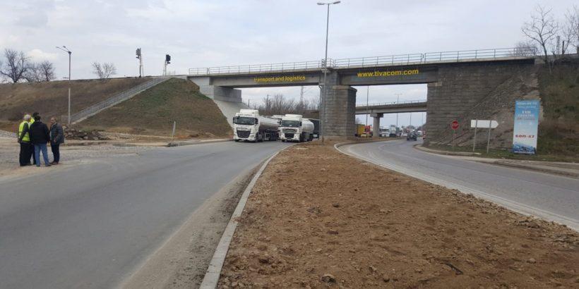 През април завършва реконструкцията на платното на пътя Русе - Силистра при входа на Русе