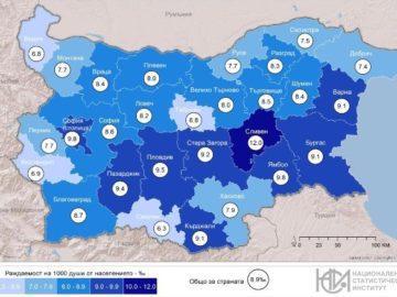 Русенска област с един от най - ниските коефициенти на раждаемост в страната